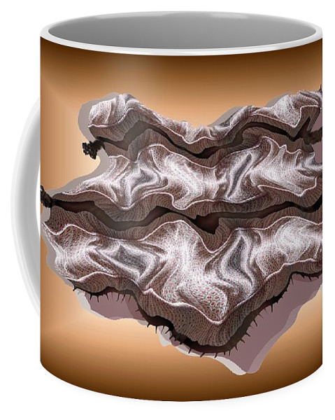 Abstract Coffee Mug featuring the digital art Doubt Its Redoubt by Ron Bissett