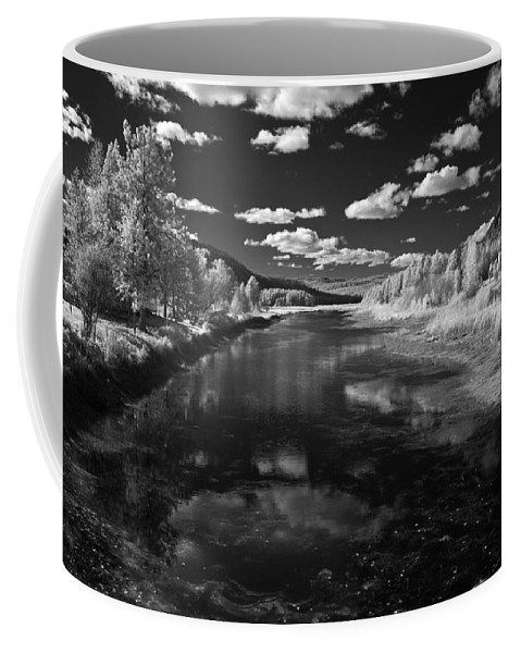 B&w Coffee Mug featuring the photograph Dover Slough 2 by Lee Santa