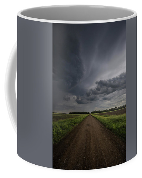 Gravel Road Coffee Mug featuring the photograph Down A Little Dirt Road by Aaron J Groen