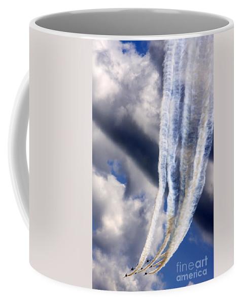 Red Arrows Coffee Mug featuring the photograph Down by Angel Tarantella