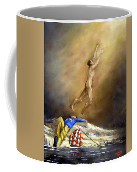 River Coffee Mug featuring the painting Down By The Riverside by Charles Sims