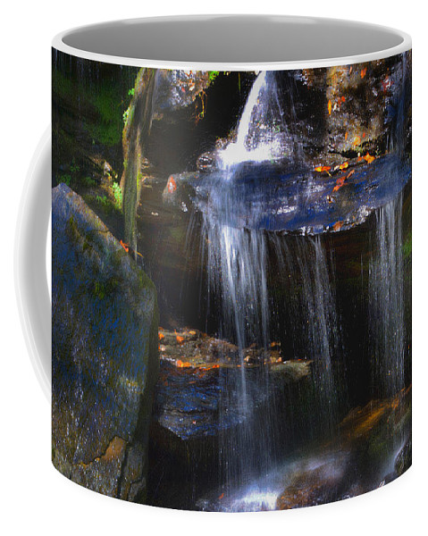 Scenic Tours Coffee Mug featuring the photograph Downhill by Skip Willits