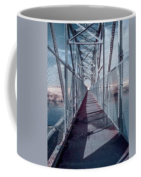 Bridge Coffee Mug featuring the photograph Down The Bridge by Greg Nyquist