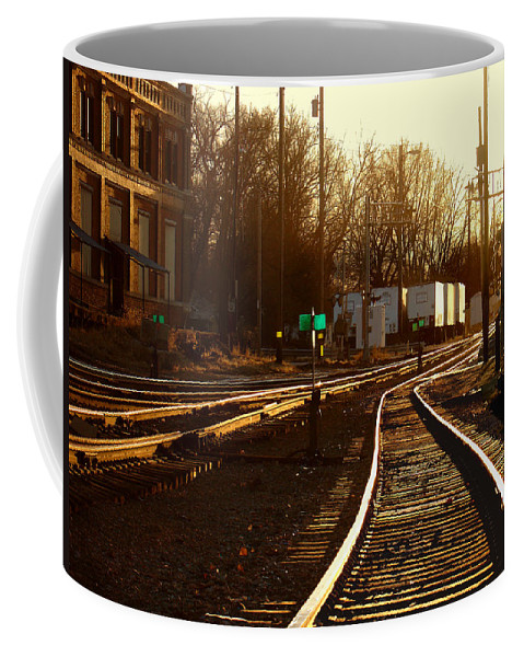 Landscape Coffee Mug featuring the photograph Down The Right Track 2 by Steve Karol