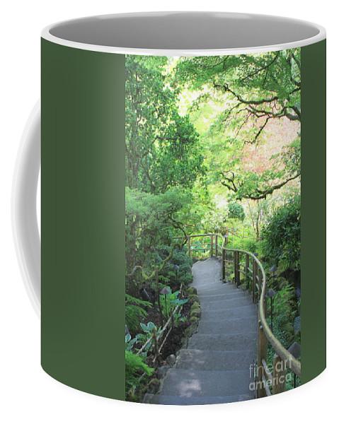 Garden Coffee Mug featuring the photograph Down To The Garden by Carol Groenen