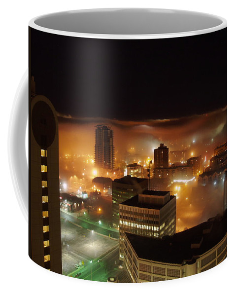 Photograph Calgary Coffee Mug featuring the photograph Downdown Calgary by Seon-Jeong Kim
