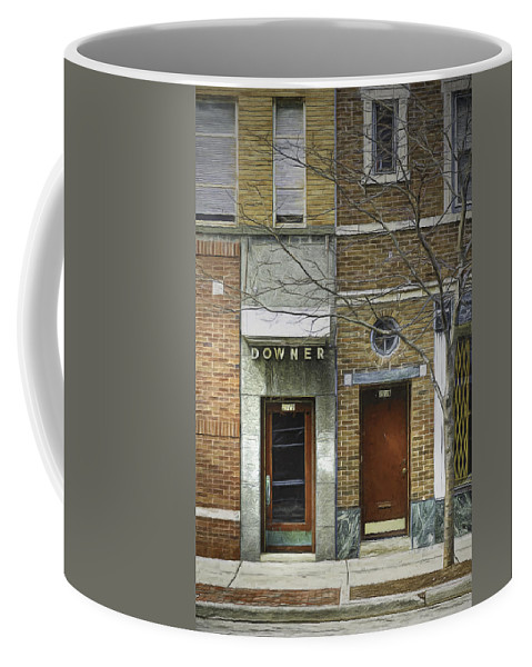 City Coffee Mug featuring the photograph Downer by Scott Norris