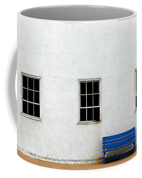 Bench Coffee Mug featuring the photograph Downtown America by Todd Klassy