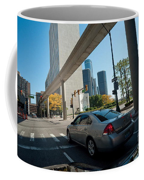 Detroit Coffee Mug featuring the photograph Downtown Detroit by Steven Dunn