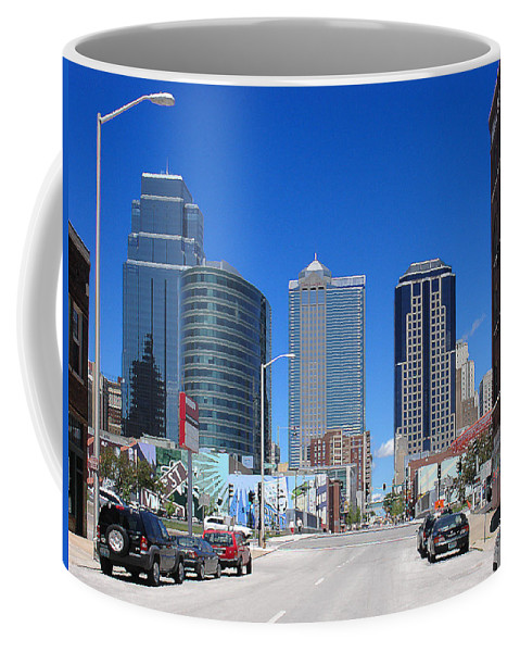 City Coffee Mug featuring the photograph Downtown Kansas City by Steve Karol