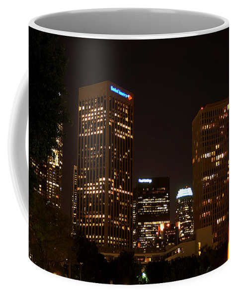 Clay Coffee Mug featuring the photograph Downtown L.a. In Hdr by Clayton Bruster