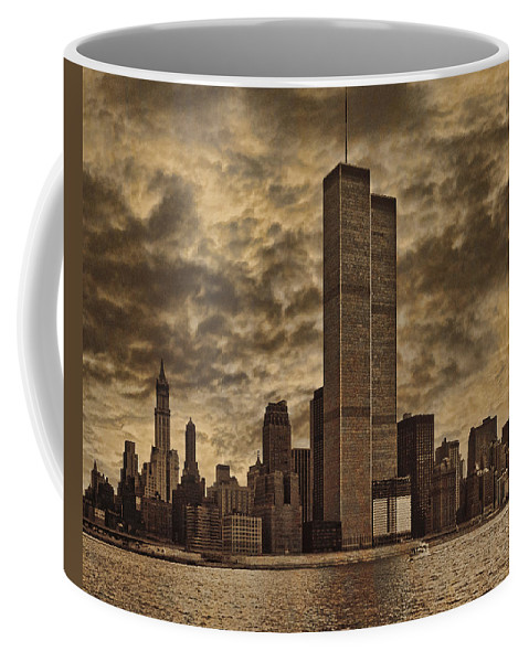Manhattan Coffee Mug featuring the photograph Downtown Manhattan Circa Nineteen Seventy Nine by Chris Lord