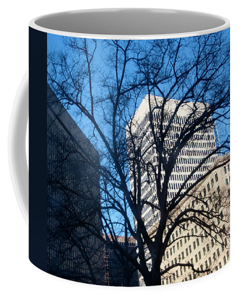 Photography Coffee Mug featuring the photograph Downtown by Steven Natanson