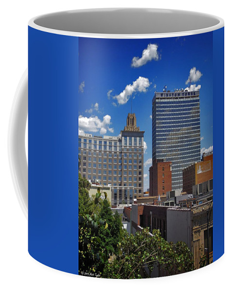 Weather Coffee Mug featuring the photograph Downtown Winston-salem Under Fair Skies by Matt Taylor