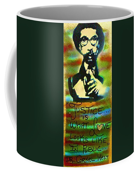 Dr. Cornel West Coffee Mug featuring the painting Dr. Cornel West Justice by Tony B Conscious