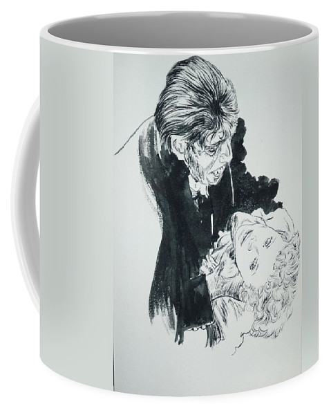 Dr. Jekyll Coffee Mug featuring the painting Dr. Jekyll As Mr. Hyde by Bryan Bustard