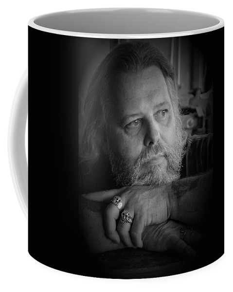 Biker Coffee Mug featuring the photograph Dr. Nick by D'Arcy Evans