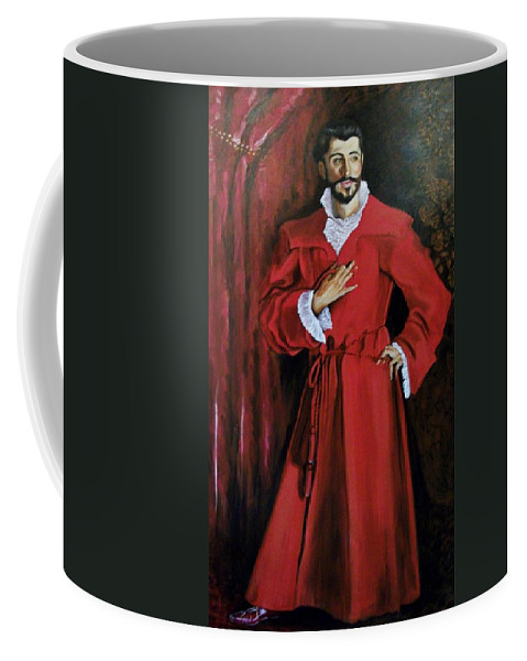 Formal Portrait. John Singer Sargent Coffee Mug featuring the painting Dr. Pozzi - Not Afraid by Thomas J Nixon