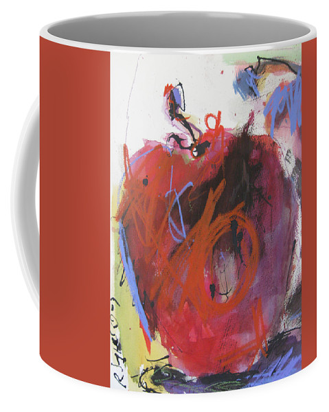 Apple Coffee Mug featuring the painting Dr. Repellent by Robert Joyner