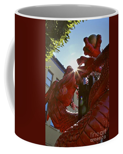 Red Dragon Coffee Mug featuring the photograph Chinese New Year Dragon by Alanna DPhoto