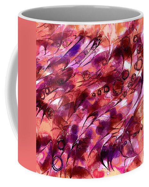 Abstract Coffee Mug featuring the digital art Dragon Hoard by Rachel Christine Nowicki