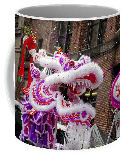 Chinese Coffee Mug featuring the photograph Dragon Moon by Greg Fortier
