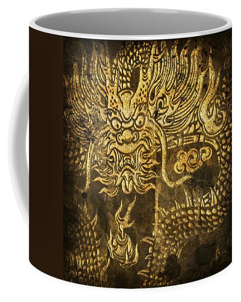 Abstract Coffee Mug featuring the digital art Dragon Pattern by Setsiri Silapasuwanchai