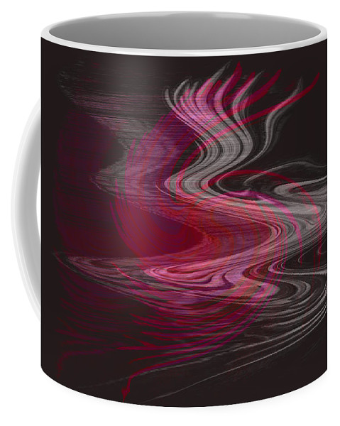 Abstract Coffee Mug featuring the digital art Dragon Queen by Linda Sannuti