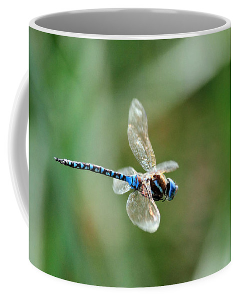 Dragonfly Coffee Mug featuring the photograph Dragonfly In Flight by Randall Ingalls