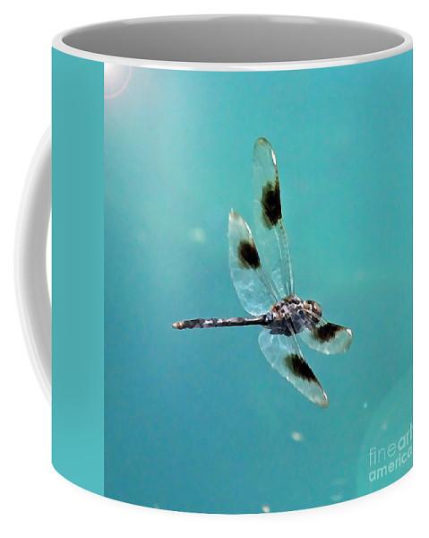 Dragonfly Coffee Mug featuring the photograph Dragonfly In Sunshine - Digital Art by Carol Groenen