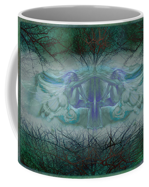 Elf Coffee Mug featuring the painting Dragonfly by Ragen Mendenhall