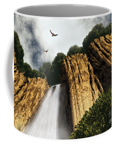 Canyon Coffee Mug featuring the digital art Dragons Den Canyon by Richard Rizzo