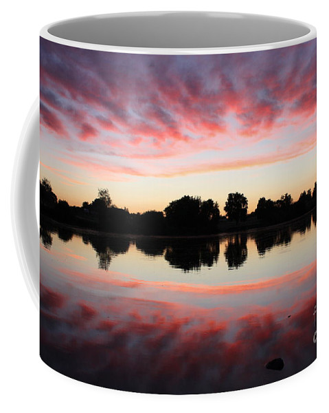 Sunset Coffee Mug featuring the photograph Drama In Red by Carol Groenen