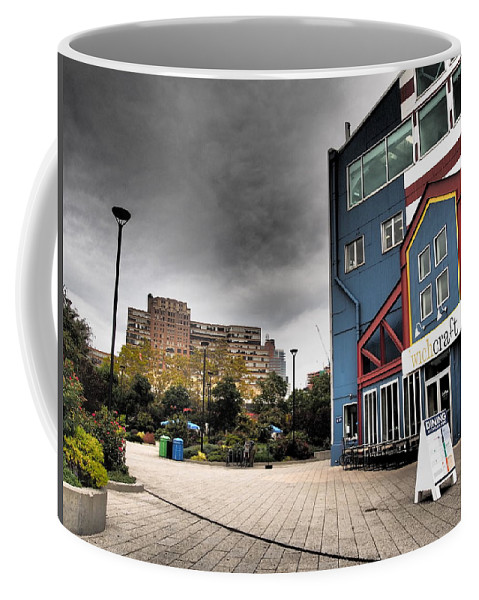 New York City Coffee Mug featuring the photograph Drama In The City 9 by Dorothy Lee