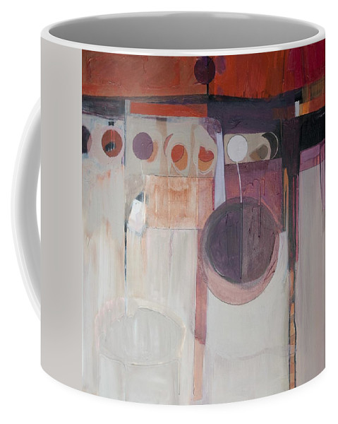 Abstract Coffee Mug featuring the painting Drama by Marlene Burns