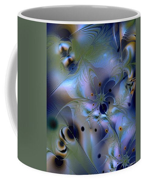 Abstract Coffee Mug featuring the digital art Drama Of Indifference by Casey Kotas