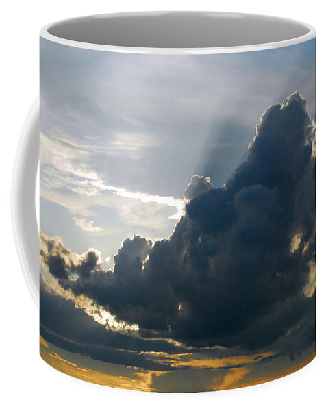 Provence Coffee Mug featuring the photograph Dramatic Sky With Crepuscular Rays by Anne Keiser
