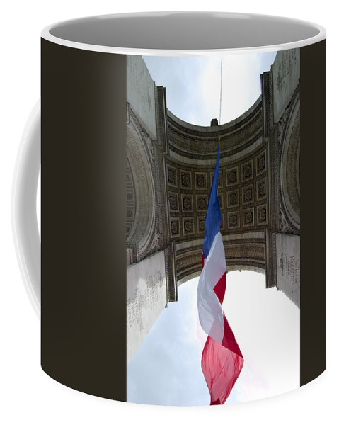 French Coffee Mug featuring the photograph Drapeau Francais by Robert Ponzoni