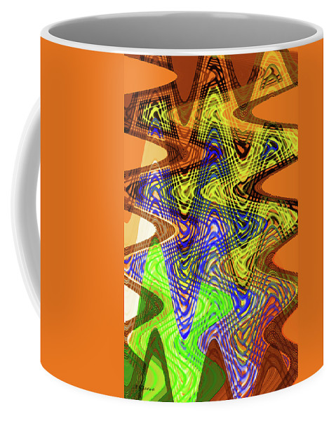 Drawing Color Squares Abstract Coffee Mug featuring the digital art Drawing Color Squares Abstract by Tom Janca