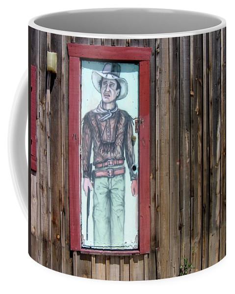 Drawing John Wayne Hondo Medicine Horse Black Canyon City Arizona 2005 Coffee Mug featuring the photograph Drawing John Wayne Hondo Medicine Horse Black Canyon City Arizona 2005 by David Lee Guss