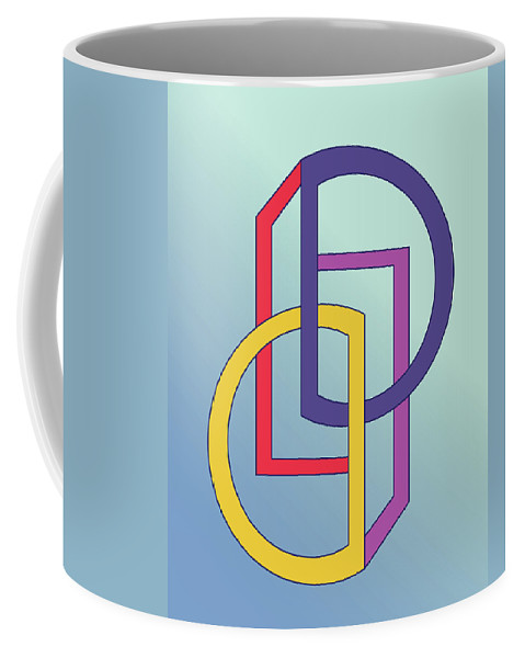 Illustration Coffee Mug featuring the drawing Drawn2shapes5clr by Maggie Mijares