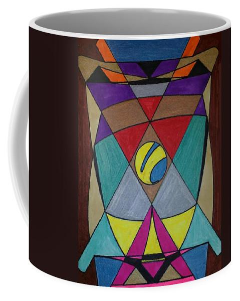 Geometric Art Coffee Mug featuring the glass art Dream 78 by S S-ray