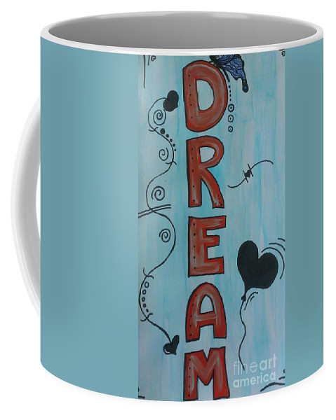 Dream Coffee Mug featuring the mixed media Dream Acrylic Watercolor by LKB Art and Photography