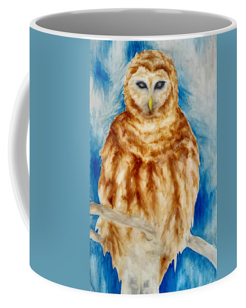 Owl Coffee Mug featuring the painting Dream Guardian by Brena Patchen