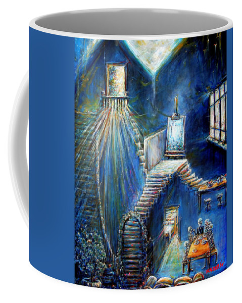 Dream House Coffee Mug featuring the painting Dream House by Heather Calderon