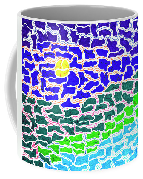 Mazes Coffee Mug featuring the drawing Dream Scape by Steven Natanson