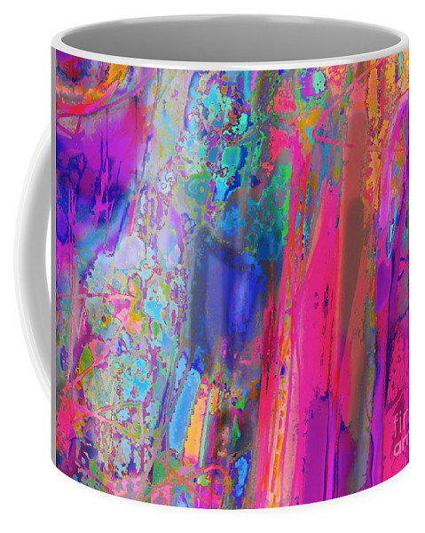 Bright And Colorful Abstarct Expressionist Artwork Coffee Mug featuring the digital art Dream State by Expressionistart studio Priscilla Batzell