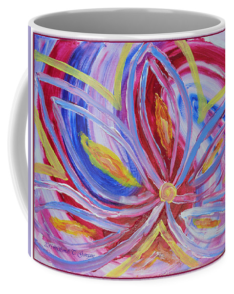 Art For Home Coffee Mug featuring the painting Dreamflower by Sonali Gangane