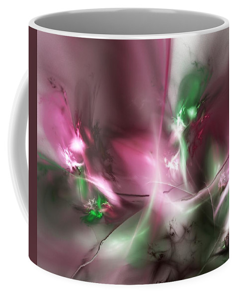 Fractal Coffee Mug featuring the digital art Dreaming In Red And Green by David Lane