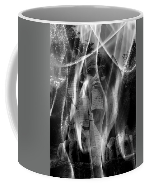 Sphinx Coffee Mug featuring the digital art Dreaming Of The Sphinx by Luigi Petro
